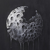 Melting moon print